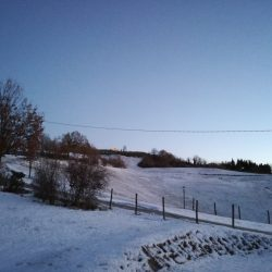 Il giardino con neve